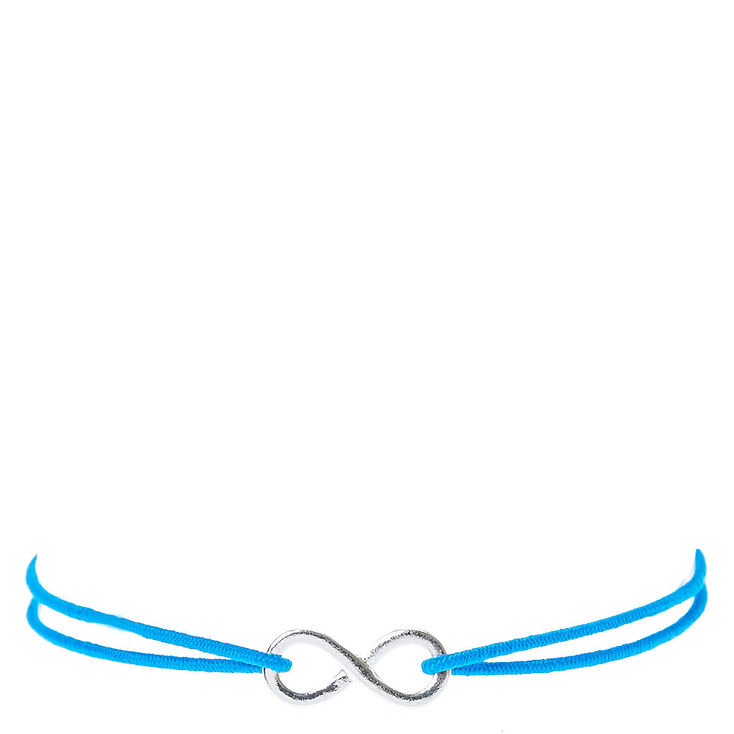 Blue Double Stretch Bracelet with Infinity Charm at Icing in Victor, NY | Tuggl
