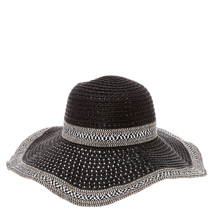 Floppy Black & White Sun Hat at Icing in Victor, NY | Tuggl