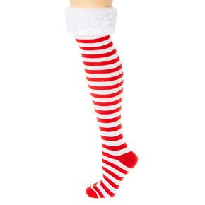 red and white striped socks - Light Up Christmas Socks