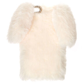 White Fur Bunny Phone Case,