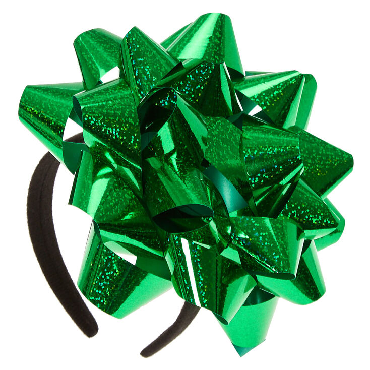 Big Green Confetti Bow Headband,