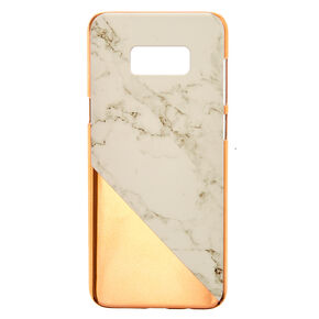 Marble and Gold-Tone Phone Case,