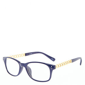 Navy Blue Frames with Gold Chain Arms,