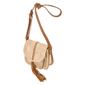Natural Tassel Crossbody Bag,