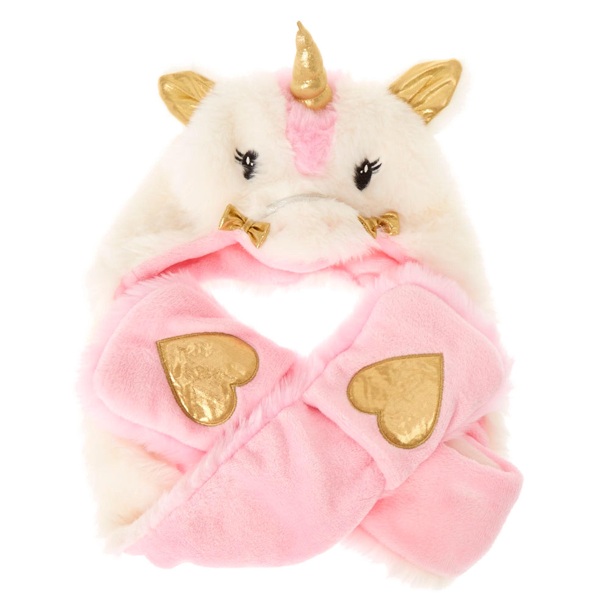 kids ariella the unicorn plush hat with hand warmers claire u0027s ca