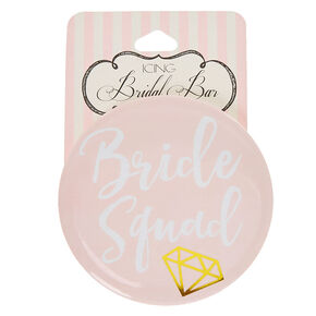 Blush Pink Bride Squad Button,