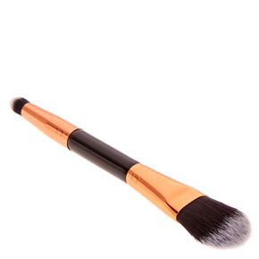 Black and Rose Gold Dual-Ended Concealer & Foundation Brush,