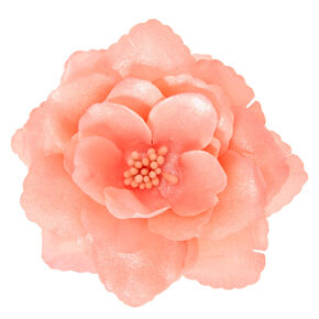 Large Pink Flower Hair Clip,