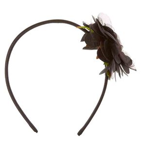 Black Chiffon Flower Headband,