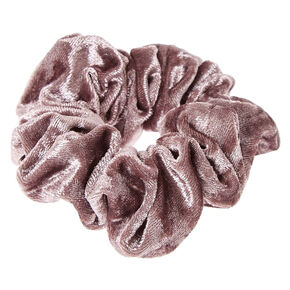 Gray Velvet Hair Scrunchie,