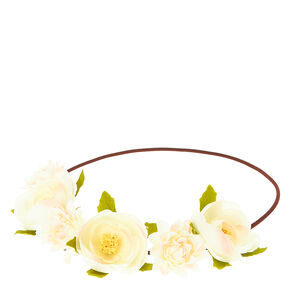 White Flower Hair Garland,