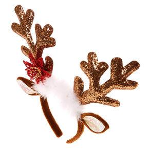 Glitter Reindeer Antlers Headband,