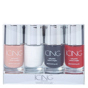 Basic Colors Nail Polish 4 Pack,
