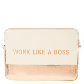 Work Like A Boss Laptop Soft Case,