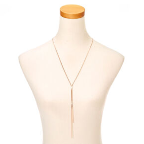 Rose Gold Toned Skinny Chain Necklace,