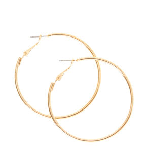 Smooth Gold Hoop Earrings,
