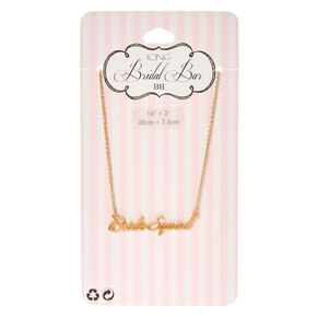 Gold-Tone BRIDE SQUAD Script Necklace,