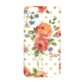 Vintage Floral and Polka Dot Phone Case,