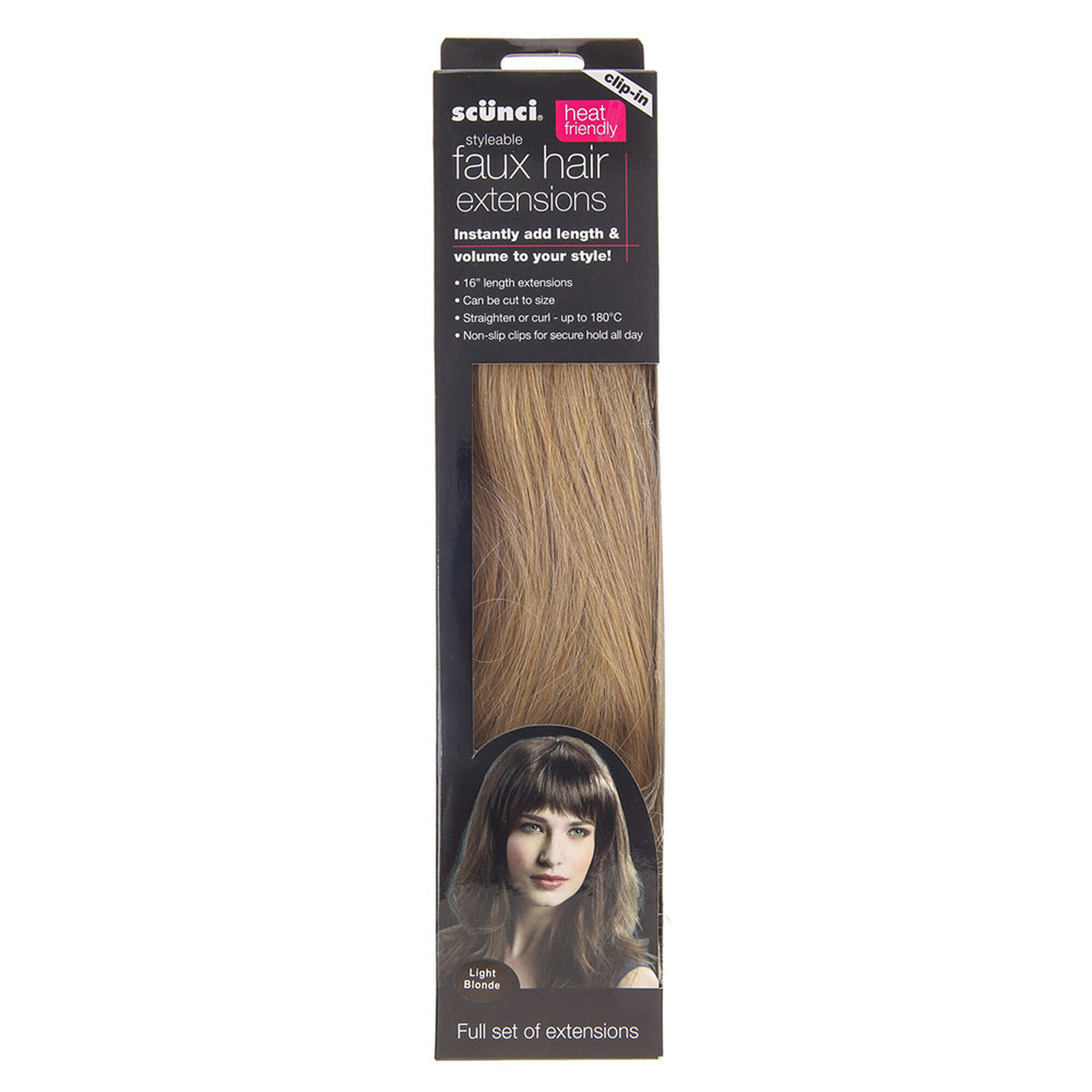 Scunci light blonde faux hair extensions claires scunci light blonde faux hair extensions pmusecretfo Gallery