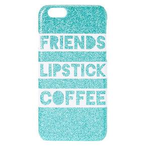 Friends Lipstick Coffee Glitter Phone Case,