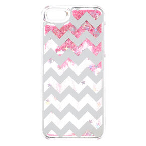 Pink Chevron Liquid Phone Case,