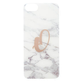 Marbled O Initial Phone Case,
