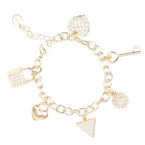 Gold Glitter Charm Bracelet,