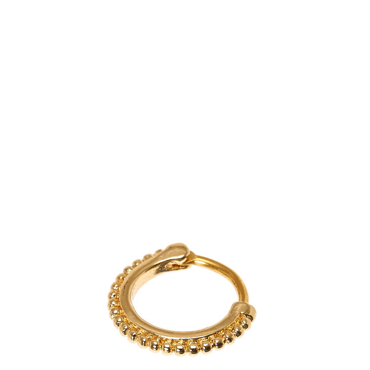 Gold Stainless Steel Daith Hoop,