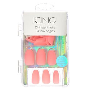 Pink Pastel Matte Faux Nails,