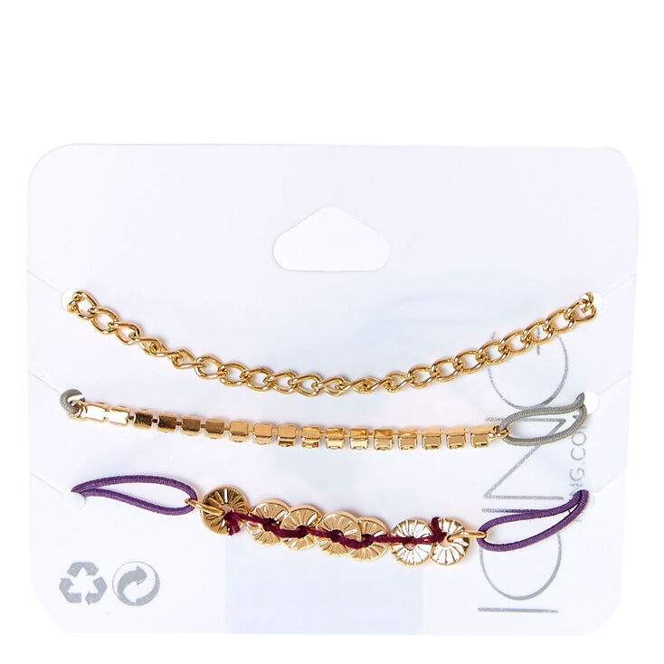 Gold-tone Stretch Bracelet Trio,