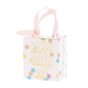Polka Dot Happy Birthday Small Gift Box,