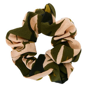 Jungle Camo Print Hair Scrunchie,