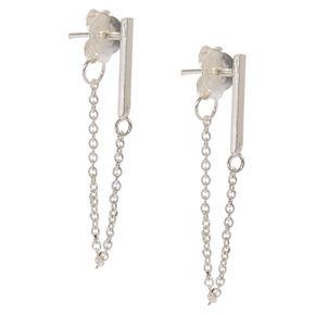 925 Sterling Silver Drop Chain Earrings,