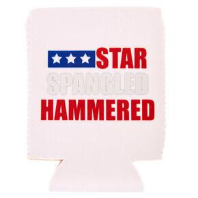 Star Spangled Hammered Drink Koozie,