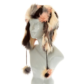 Chanelle Faux Fur Trapper Ski Hat,
