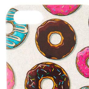 Silver Shimmer Donut Phone Case,