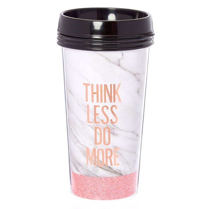 Think More Marble Travel Mug,