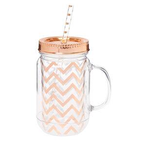 Rose Gold Mason Jar,