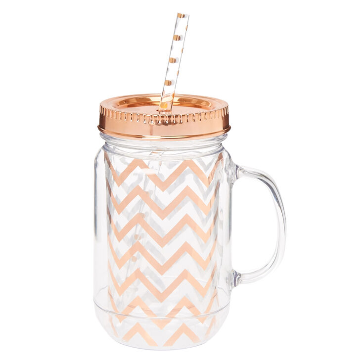 Rose Gold Mason Jar,
