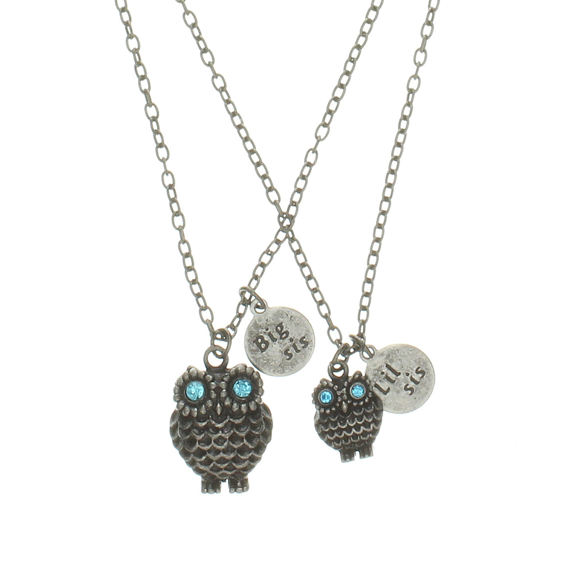 Big sister little sister owl pendant necklace claires us big sister little sister owl pendant necklace mozeypictures Image collections