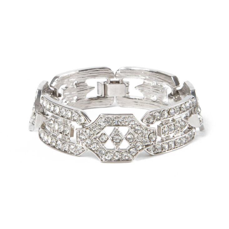 Rhinestone Art Deco Design Bracelet,