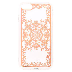 Rose Gold Filigree Phone Case,