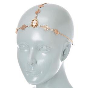 3 Way Rose Gold Filigree Headwrap,