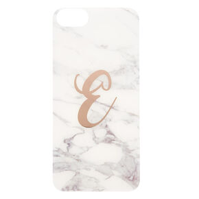 Marbled E Initial Phone Case,