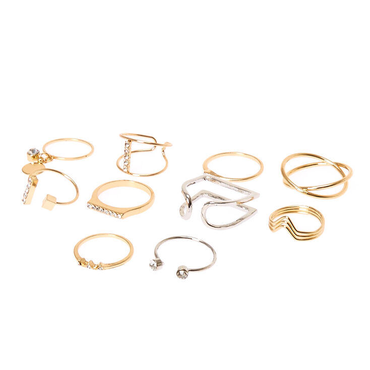Mixed Metal Multi-Pack Rings,