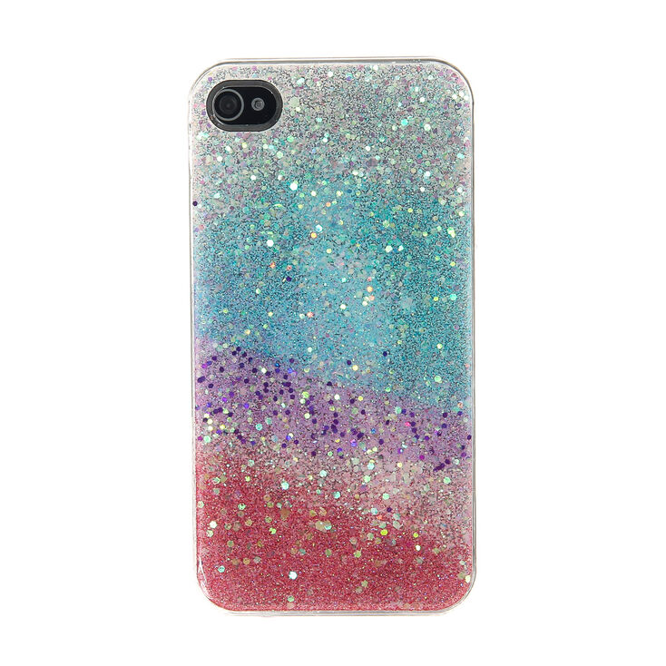 glitter rainbow phone case claire 39 s. Black Bedroom Furniture Sets. Home Design Ideas