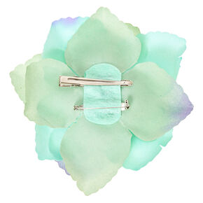 Large Mint Flower Hair Clip,