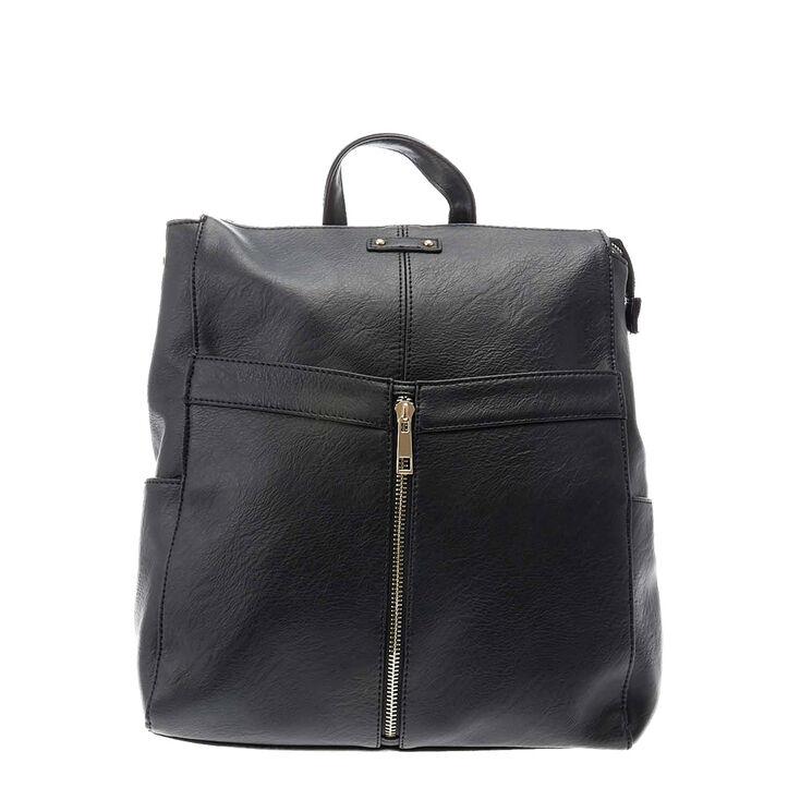 Black Urban Zip Front Bag,