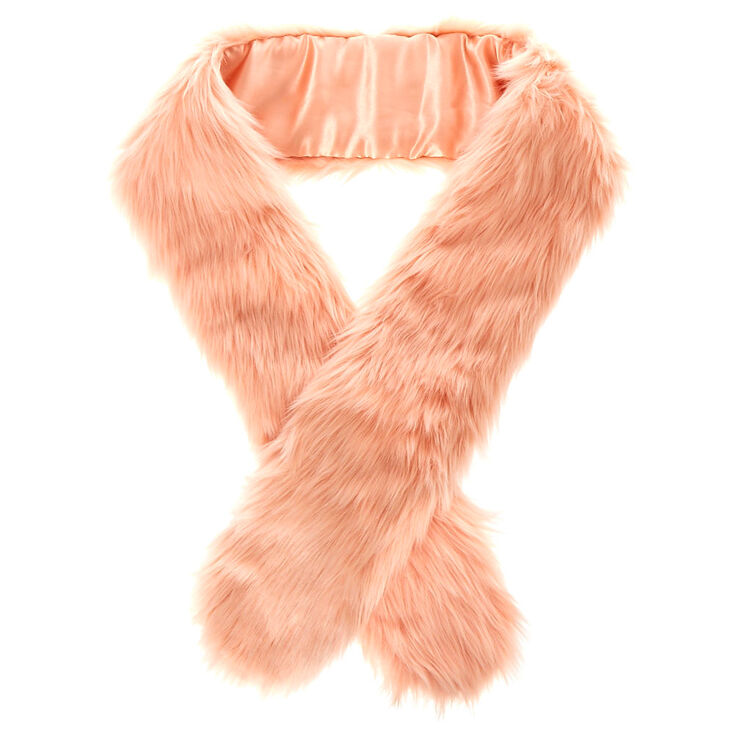 Blush Pink Faux Fur Stole,