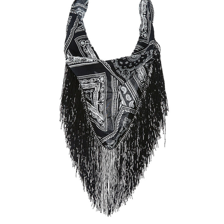 Fringe Bandana Lobster Clasp Necklace,